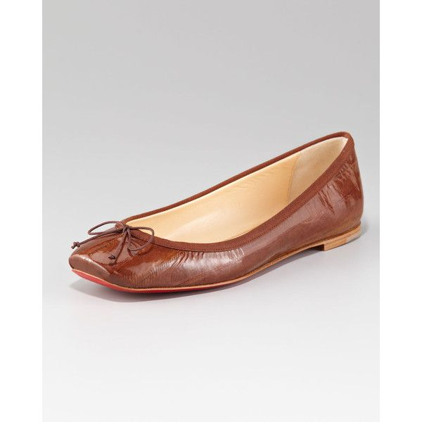 Women's Christian Louboutin Rosella Flat Ballerina..Comfy Pair to put on after  a long day in Heels!