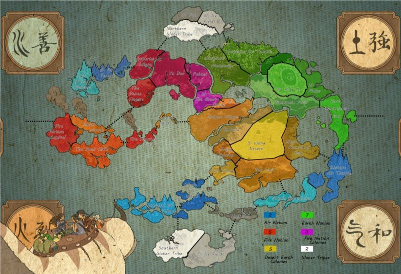 Avatar: The Last Airbender world map | Avatar: The Last ...