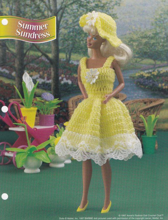 Summer Sundress, Annie\'s Fashion Doll Clothes Crochet Pattern Club ...