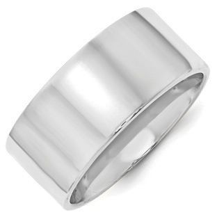 10mm Flat Edge Comfort Fit Plain Wedding Band In 10k White Gold Mens Gold Wedding Band Plain Wedding Band Comfort Fit Band