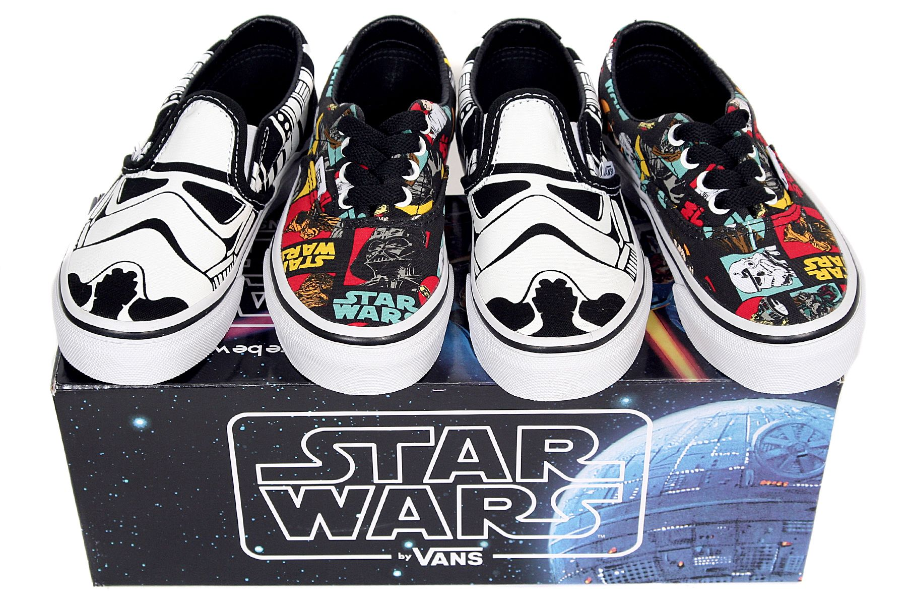 b3f8f6c325616 Children's Star Wars Vans available from toddler UK size 4 to Kids UK size 2 .
