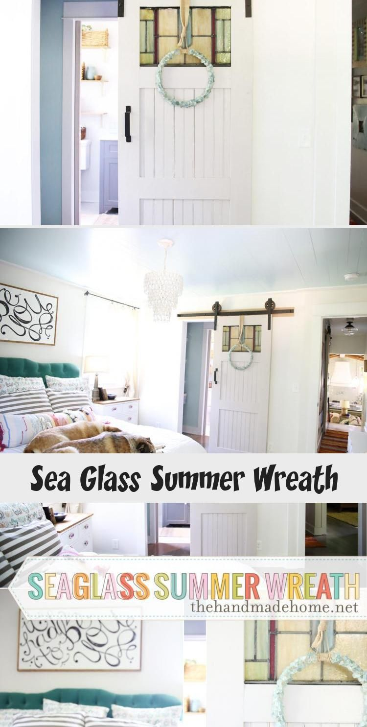 Add a little fun to your home decor with this simple sea glass wreath. A great project for any age. #wreath #decor #summerwreath #kidproject #door #home decor #kidcraft #easywreath #seaglass #bluewreath #prettywreath #easydecor #girlsroom #summercraft #HomeDecorDIYVideosCheap #HomeDecorDIYVideosBedroom #HomeDecorDIYVideosOnABudget #HomeDecorDIYVideosLivingRoom #HomeDecorDIYVideosIdeas