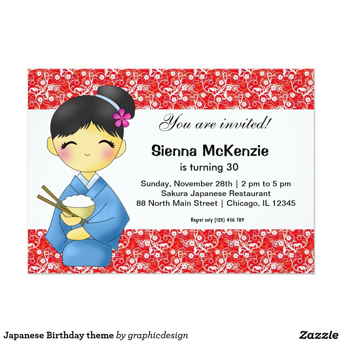 Japanese birthday theme invitation stuff sold on zazzle japanese birthday invitation asian available in different products check more at zazzlecelebrationideas filmwisefo
