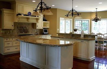 Almond Colored Monochromatic Kitchens Design Ideas Pictures