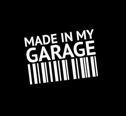Made In My Garage Barcode Vinyl Decal Jeep Pinterest Jeeps - Where to get vinyl stickers made