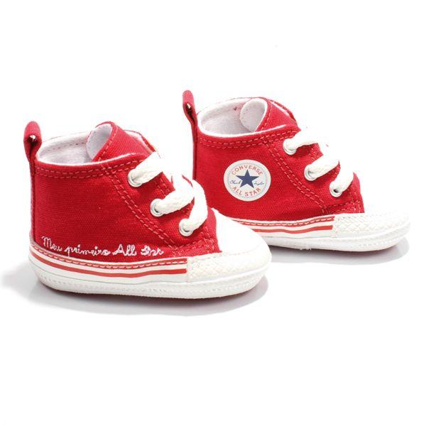 07142a5c845 Tênis Bebê meu Primeiro Converse All Star Vermelho