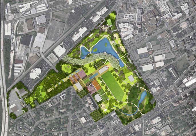 Nashville Centennial Park Master Plan Gustafson Guthrie Nichol Ltd Master Plan Centennial Park Landscape Plan