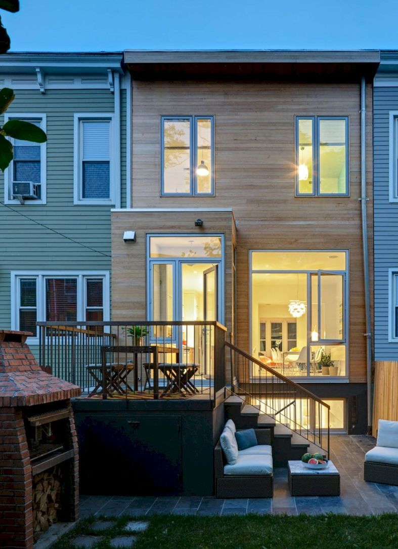 East williamsburg rowhouse  wood frame row house in also rh pinterest
