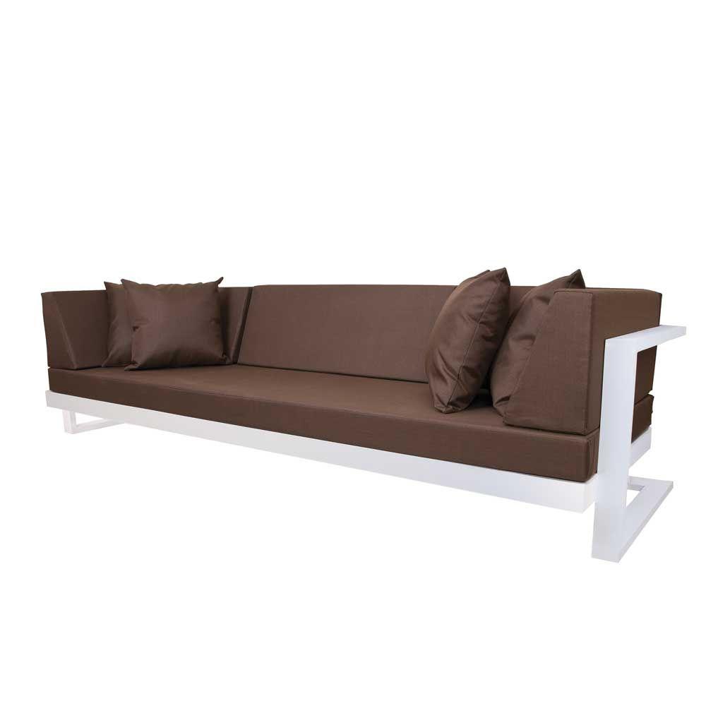 lounge sofa in braun weiß (7-teilig) jetzt bestellen unter: https, Garten und bauen