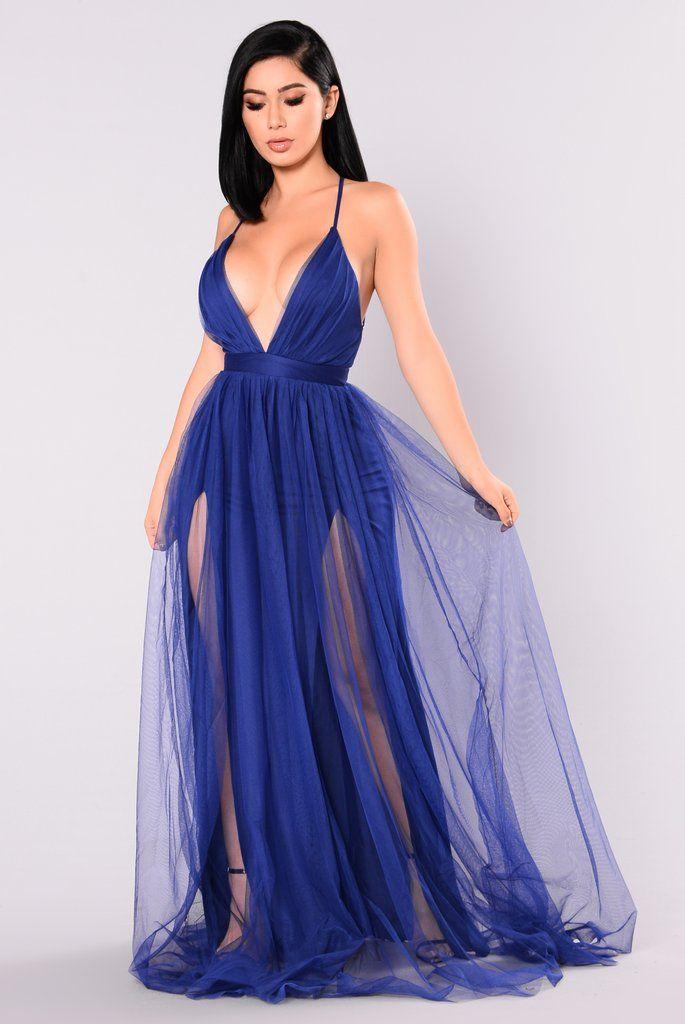 On The Runway Maxi Dress Royal Blue Maxi Dress Electric Blue Dresses Winter Party Dress