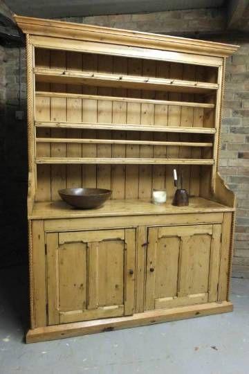 Mid Victorian Irish Country Pine Dresser