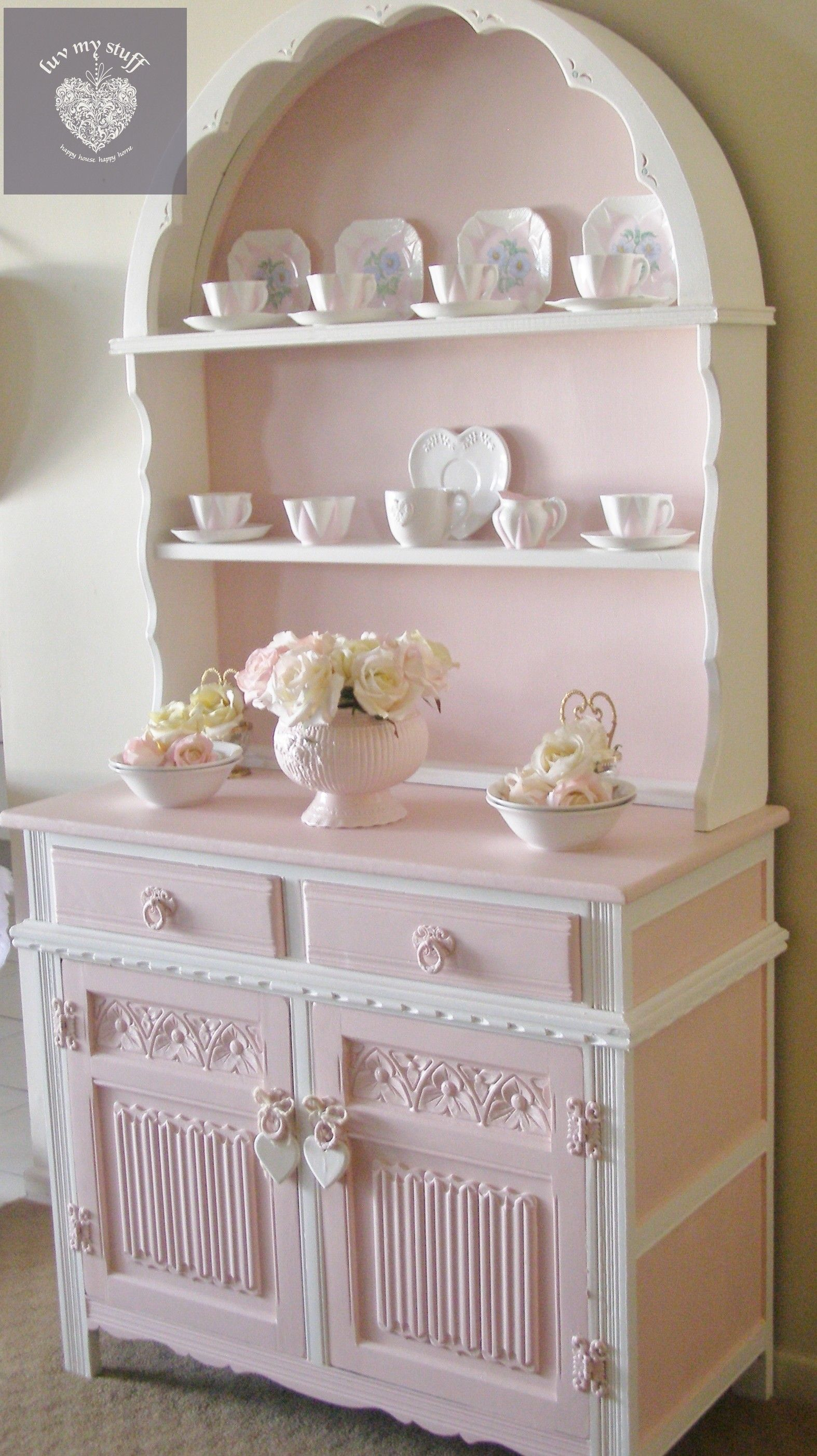 Photo of Romantic pink round hutch ..called Shelly , made in my own range of pink paints …