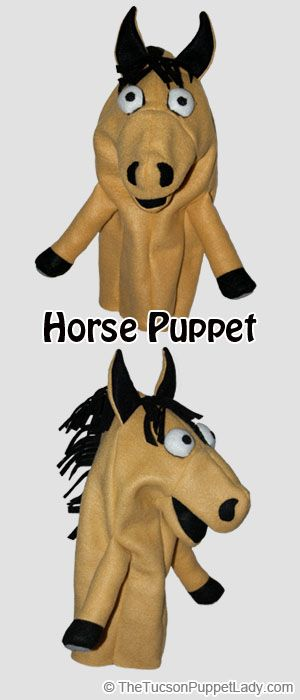 Movable Mouth Horse Hand Puppet | Puppet, Sewing patterns and Felting