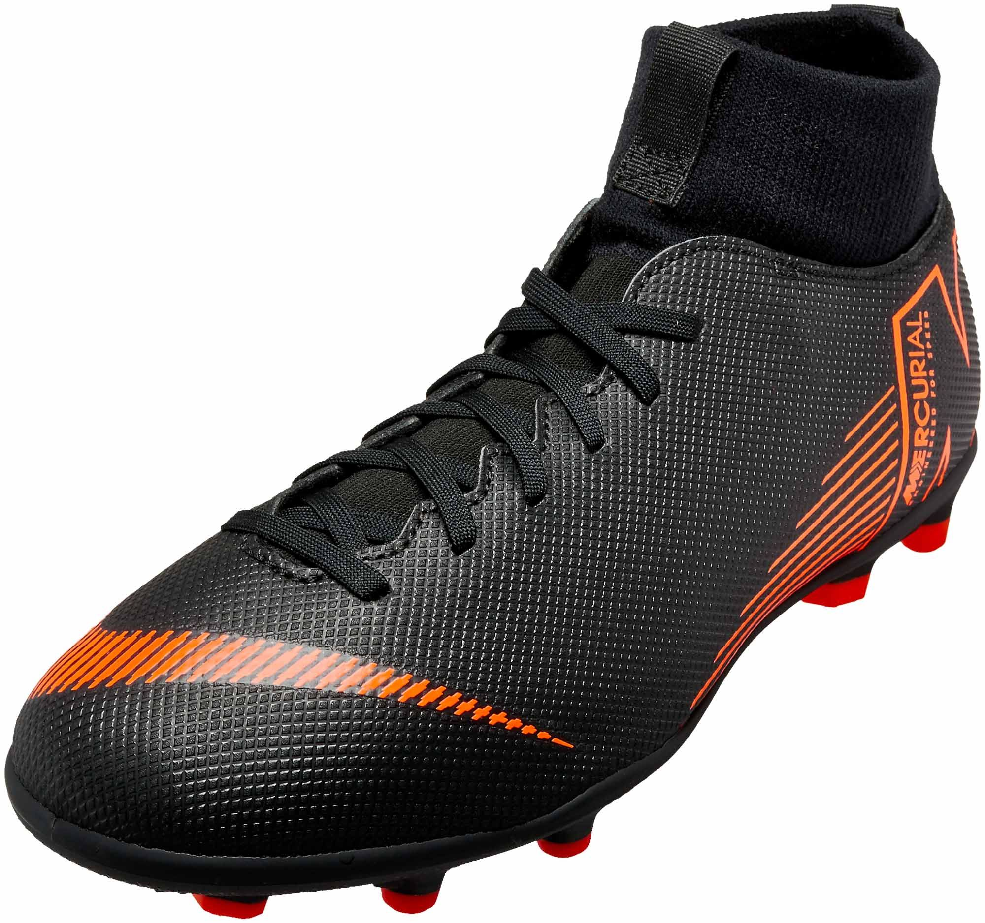 Nike Kids Superfly 6 Club Mg Black Total Orange Kids Clothing Brands List Nike Kids Kids Soccer Shoes