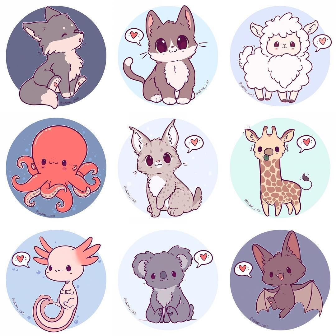 Drawing Animals Cute animal drawings kawaii, Cute animal