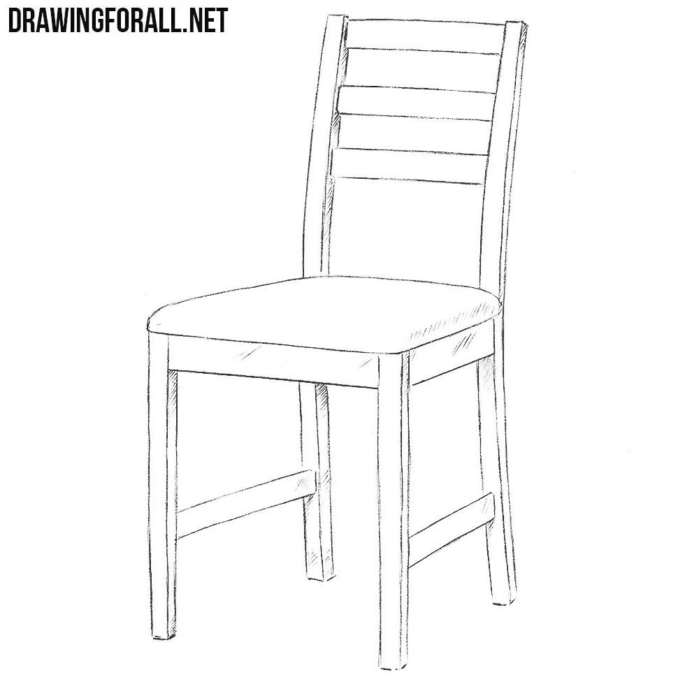 Pen Pencil Paper Draw Contour Drawing Of A Chair Contour Drawing Chair Drawing Drawing Furniture