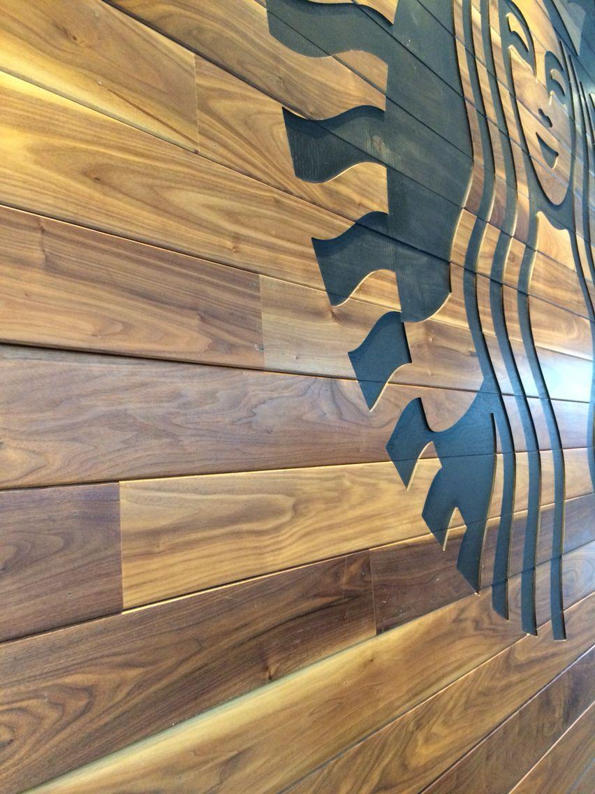 Starbucks Wood Signage