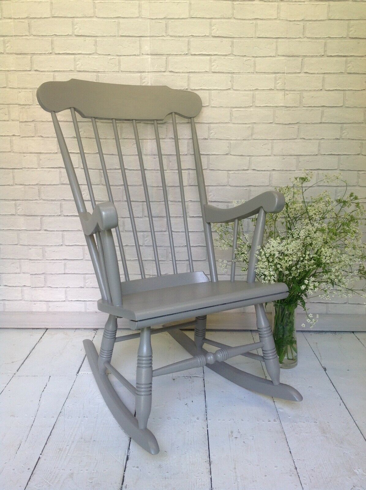 Solid Wood Carved Rocking Chair Livingroom Conservatory