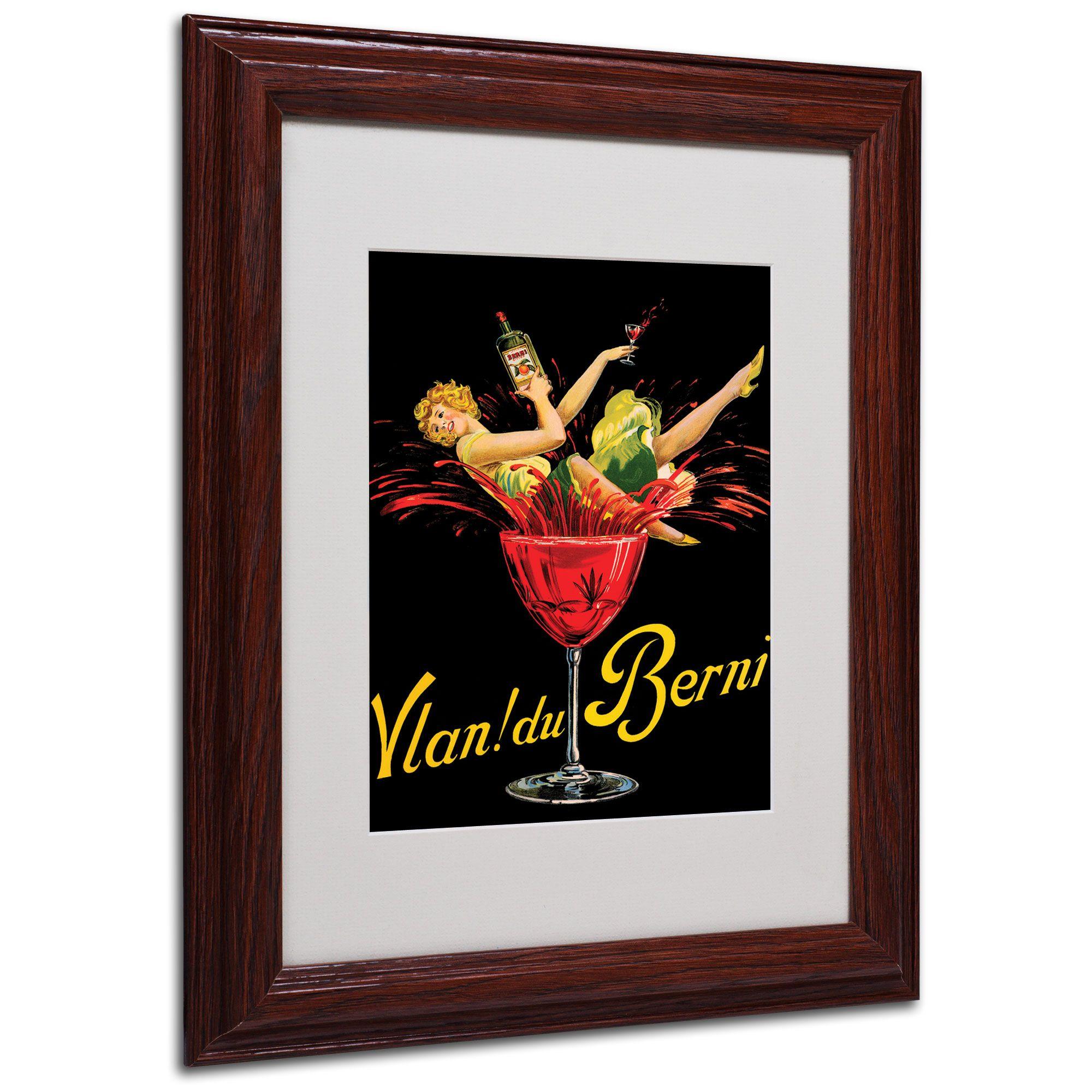 """Trademark Fine Art Vlan du Berni' 8"""" x 10"""" Matted Framed Art"""