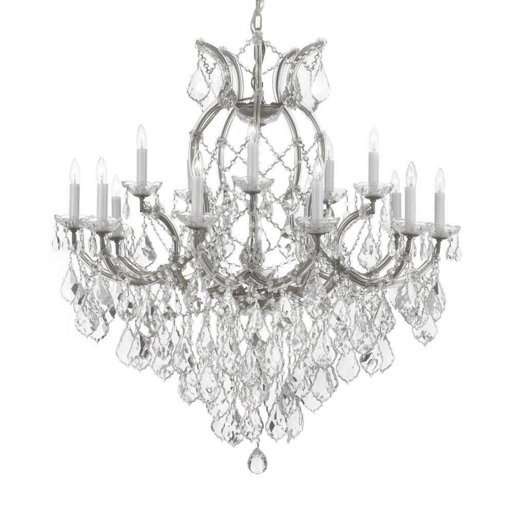 Maria Theresa 16 Light Empress Crystal Chandelier Silver T40 624 Candle Style Chandelier Crystal Chandelier Crystal Chandelier Lighting