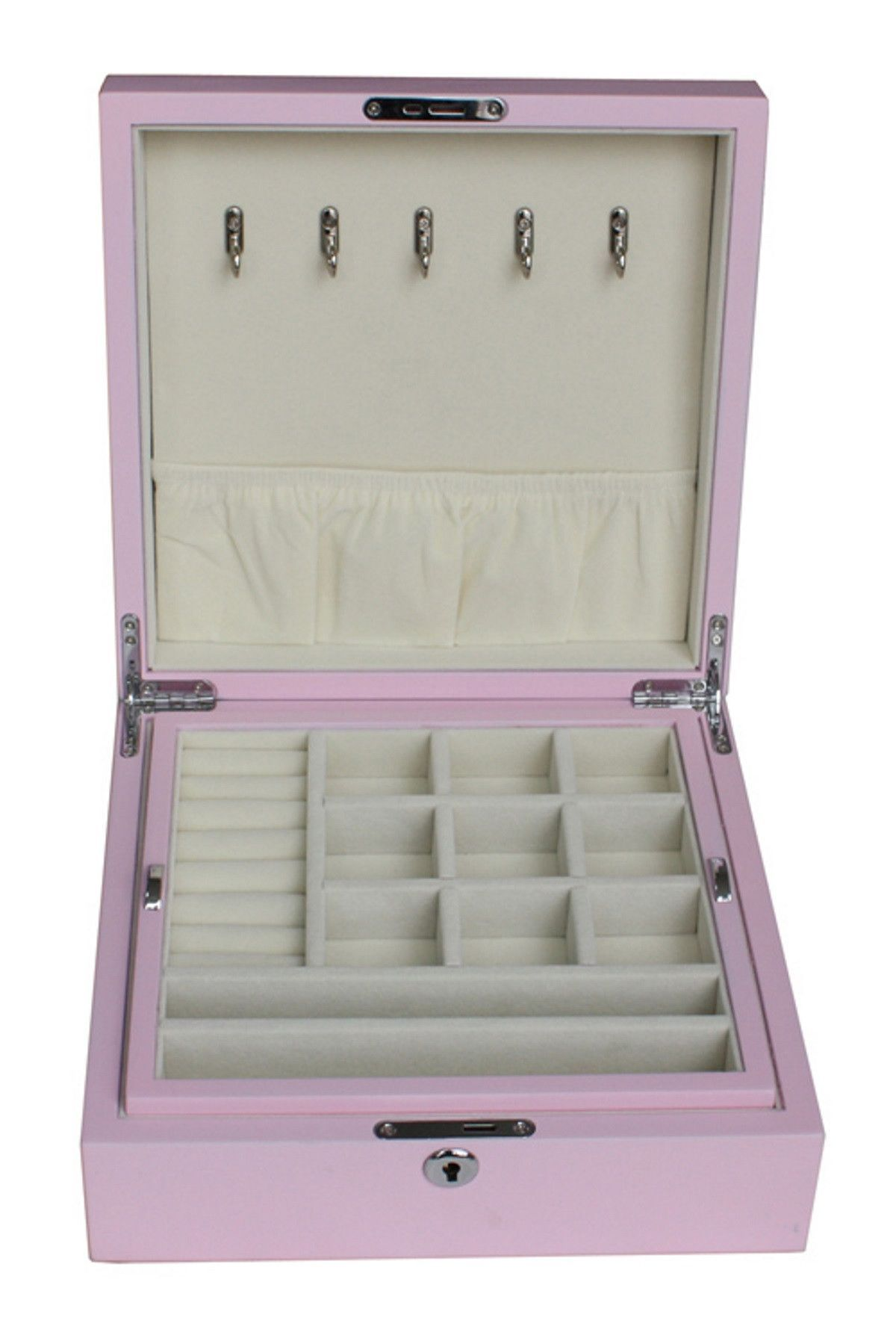 Pink Wood Jewelry Box
