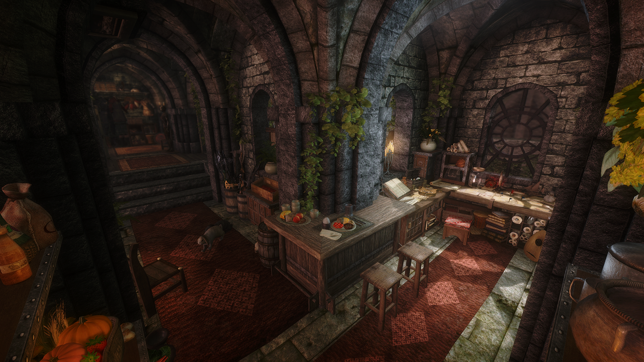 The Rookery - Bard and thief loft in Solitude at Skyrim