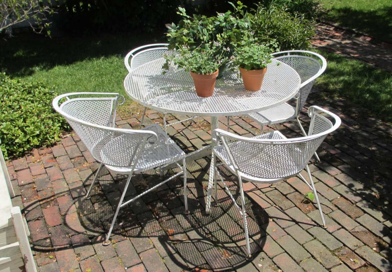 lawn ideas steel best metal pinterest old chairs on patio marvelous with