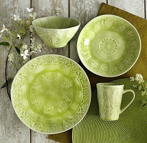 EuroCeramica Merkado Dinnerware Set Green Euro Ceramica Inc. //smile. & EuroCeramica Merkado Dinnerware Set Green Euro Ceramica Inc. http ...