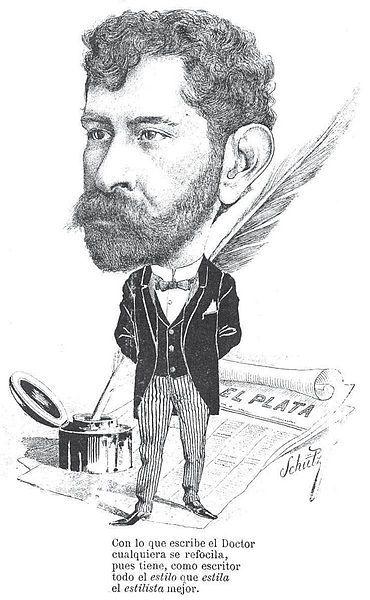 Caricatura de José M. Sienra y Carranza por Charles Schütz