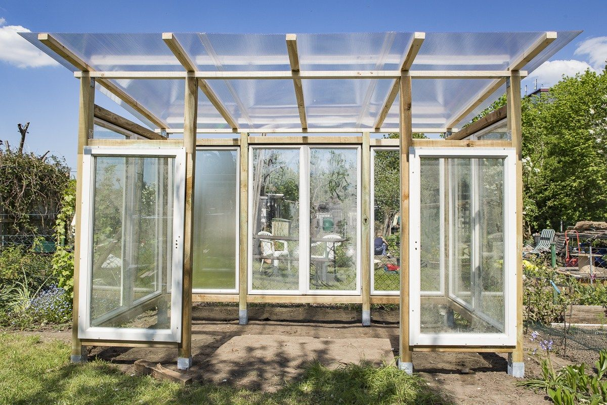 gewächshaus/tomatenhaus selber bauen | diy projekte garten