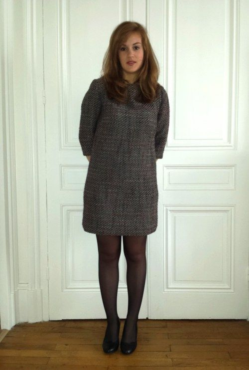 Robe simple en lainage, réalisation d'un patron New Look
