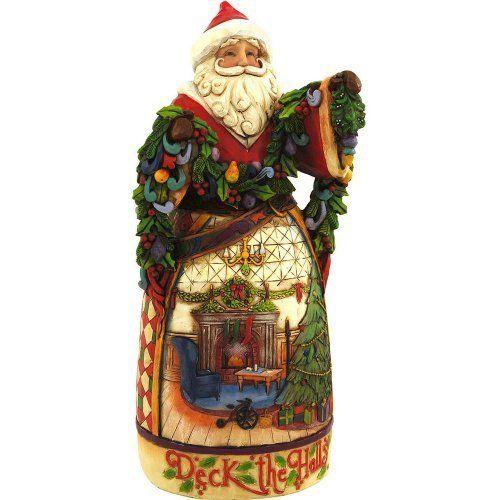 Jim Shore HWC Decking Halls and Making Merry Rotatable Santa Figurine 4051545