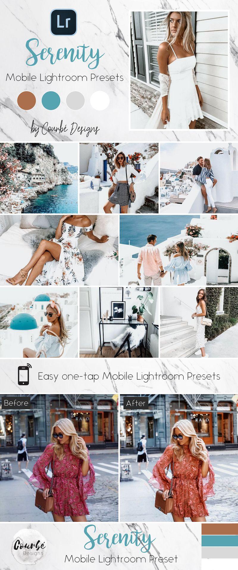 6 Mobile Lightroom Presets Serenity Instagram Presets Etsy Lightroom Presets Lightroom Lightroom Presets Portrait