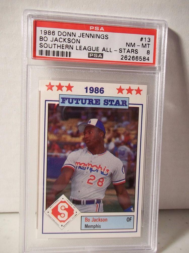 1986 Southern League Bo Jackson RC PSA NMMT 8 Baseball