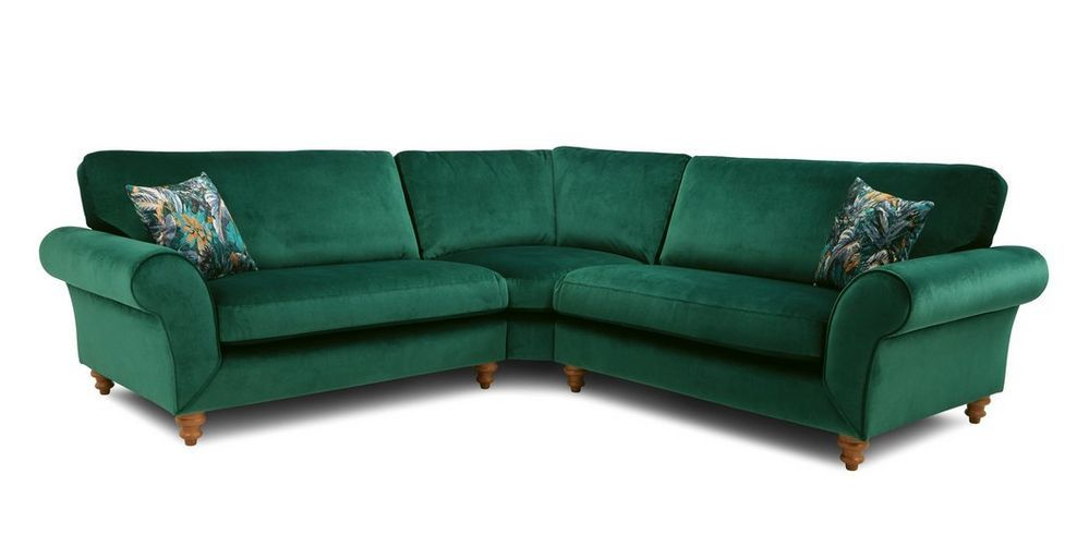 Florita 3 Piece Corner Abbey Velvet Dfs Ireland In 2020 Dfs Corner Sofa Sofa Company Chair Price