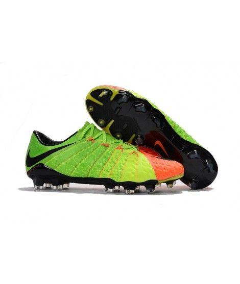 Nike Hypervenom Phantom III FG PEVNÝ POVRCH Zelená Oranžový Černá Trainers f83fe40020af5