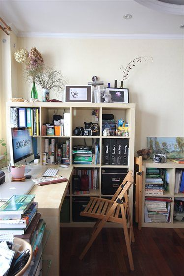 Home Office Small Business With Expedit Units And Lots Of Storage