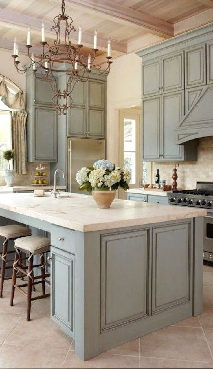 Great color of cabinets #topkitchendesigns