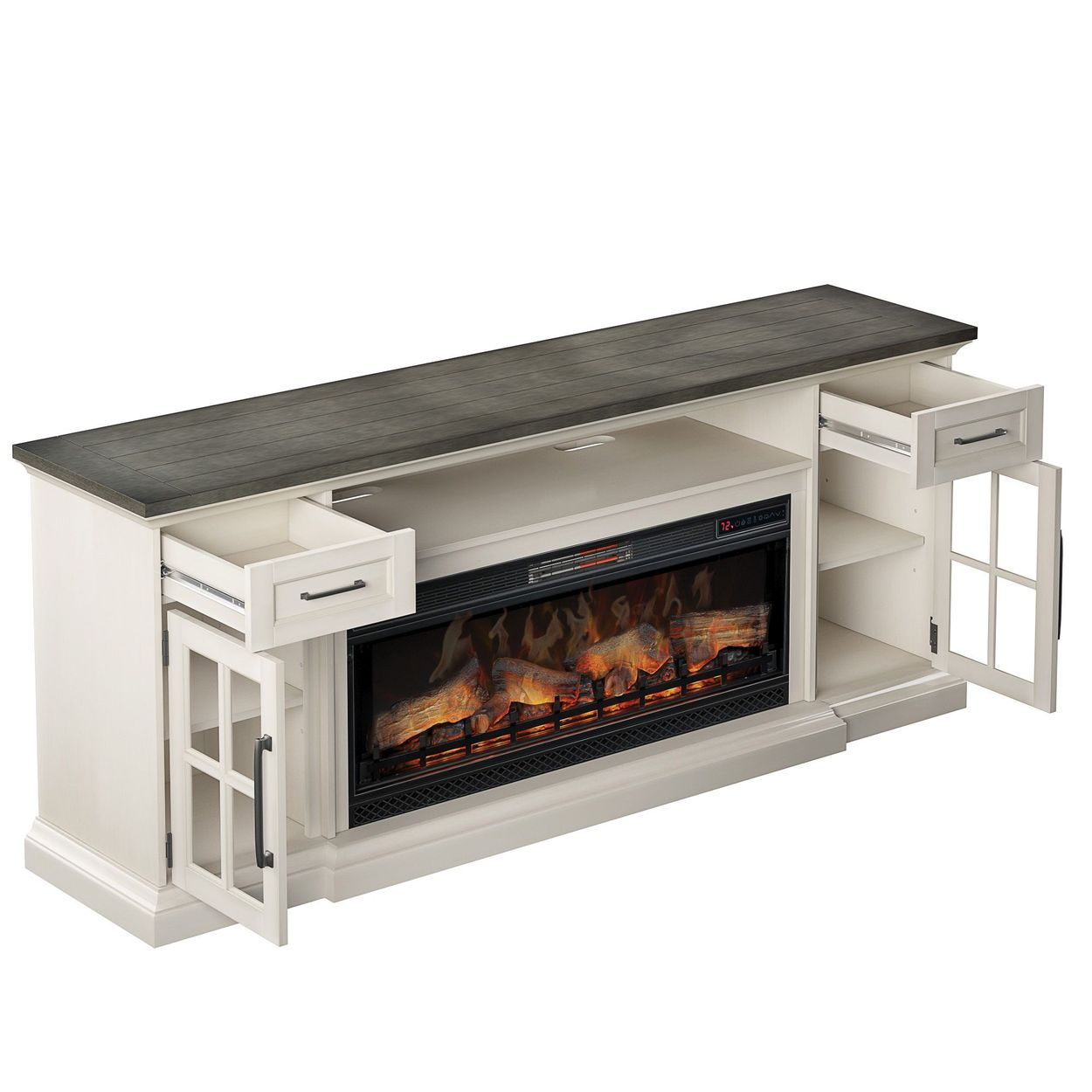 Tresanti Sloane Tv Console With Classic Flame Electric Fireplace
