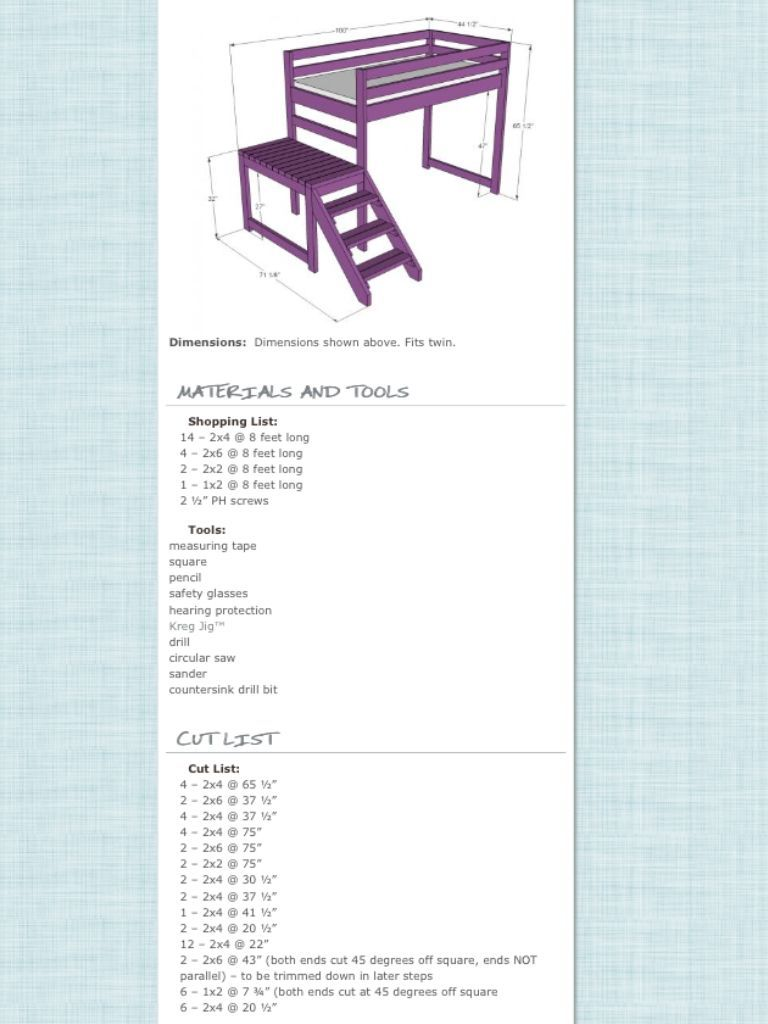 Loft bed plans with stairs  Pin by Jarrod Chapparosa on Projects to try  Pinterest  Loft bed