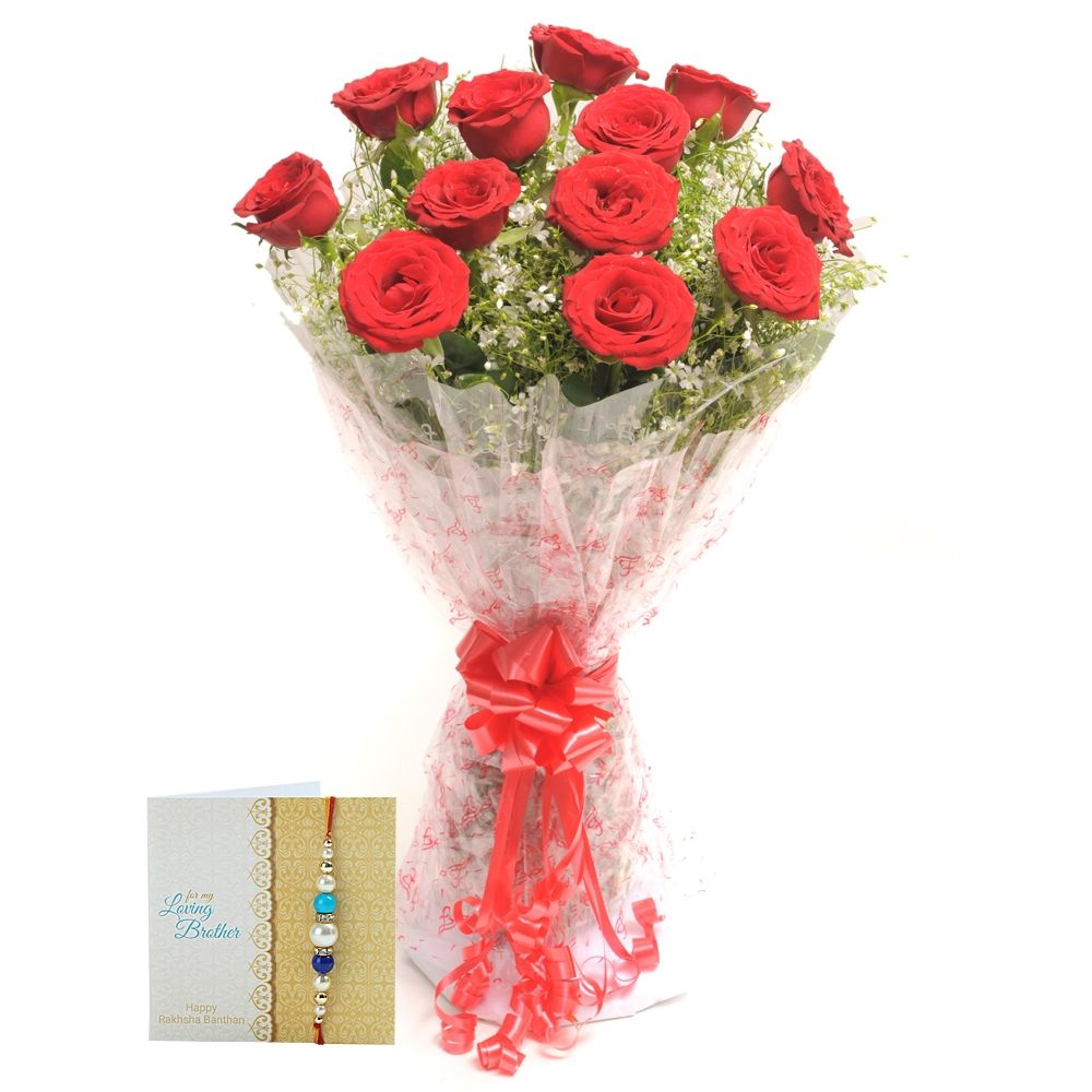Check out our New Product Rakhi Vivid No Flower COD 10 Red Roses And ...
