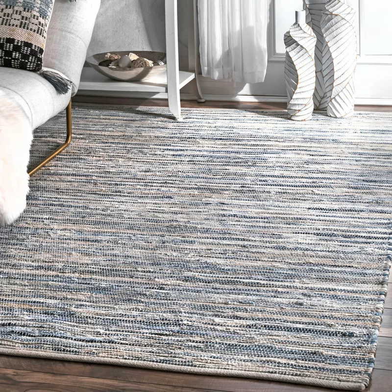 Biehl Striped Handmade Cotton Blue Area Rug Reviews Allmodern Blue And White Rug Area Rugs Beige Area Rugs