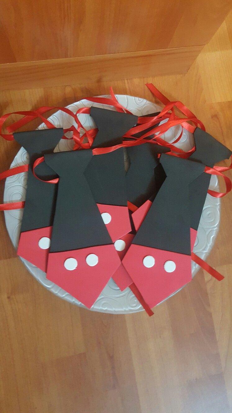 Corbatas para niños Mickey Cumple Paola 5 años