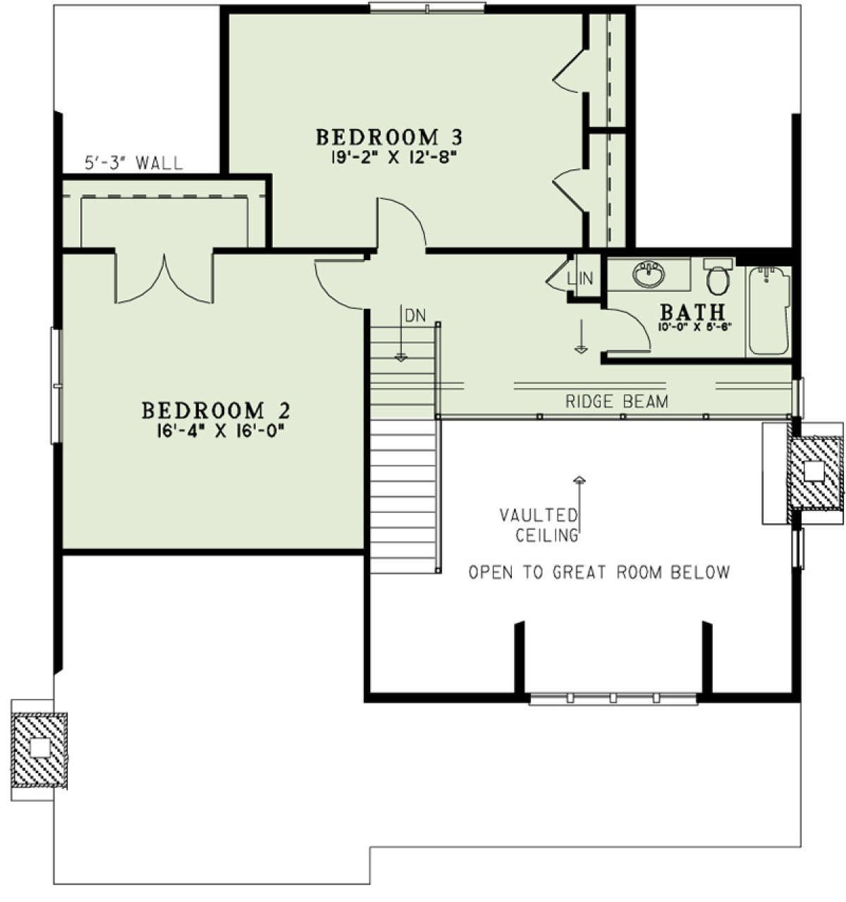 Cottage Plan: 2,637 Square Feet, 3 Bedrooms, 2.5 Bathrooms - 110-01012