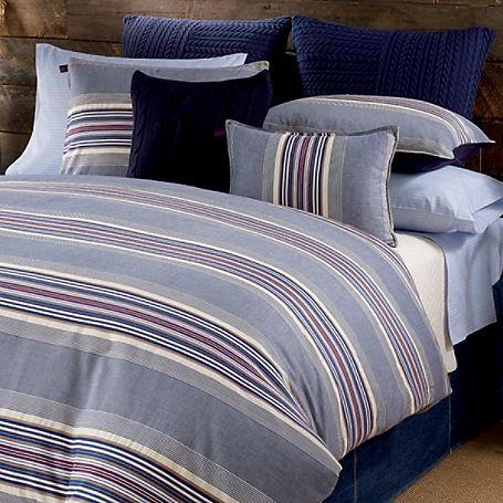 Tommy Hilfiger Comforter Set The Sun Valley Stripe Collection Combines Ski Resort Style With Traditiona Duvet Cover Sets Comforter Sets Bedroom Comforter Sets
