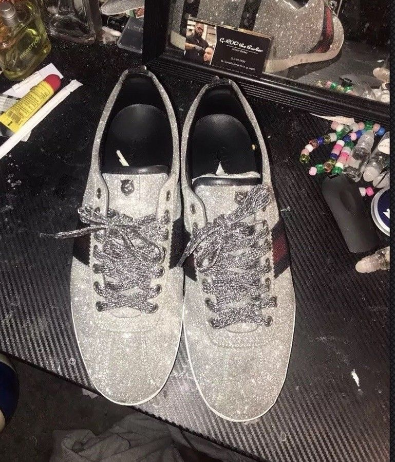 79a9bcb126e Gucci Glitter Web Sneakers  fashion  clothing  shoes  accessories  mensshoes   casualshoes