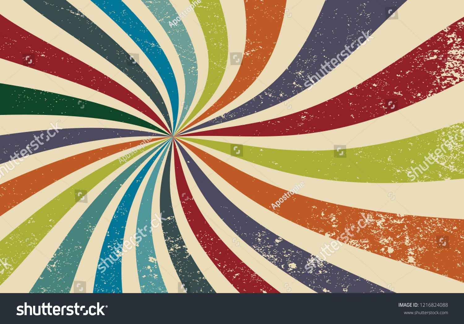 Retro Grunge Starburst Or Sunburst Background Vector Pattern With A Dark Vintage Color Palette Of Red Oran Vintage Colour Palette Vector Pattern Vintage Colors