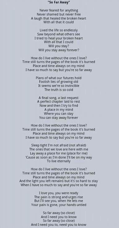 download avenged sevenfold so far away lyrics