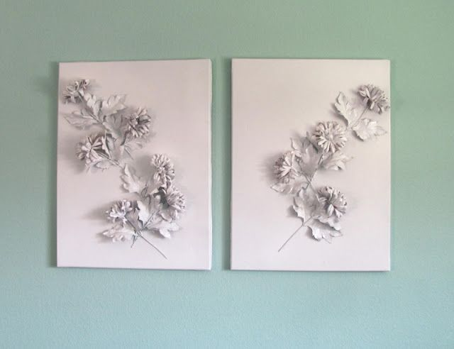 Project Get Something on My Walls: 3D Floral Canvas by Persia Lou