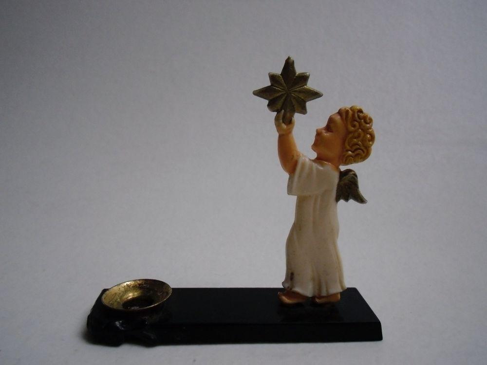 Kleiner weihnachtsengel bakelit engel 50er jahre kerzenhalter kerzenst nder christmas - Kerzenstander dekorieren ...